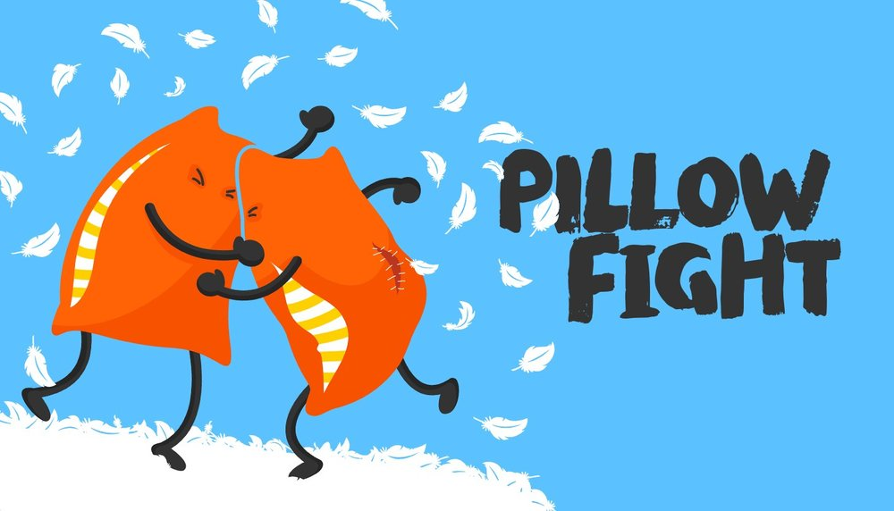 I did a Google image search for 'Pillow Fight' and now my girlfriend is mad at me. If she asks, this is definitely the image I was after.