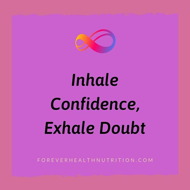 ✨Inhale confidence, exhale doubt ✨ . . . #inhaleconfidence #exhaledoubt #youcandoit #stretchgoals #Saturdayfeels