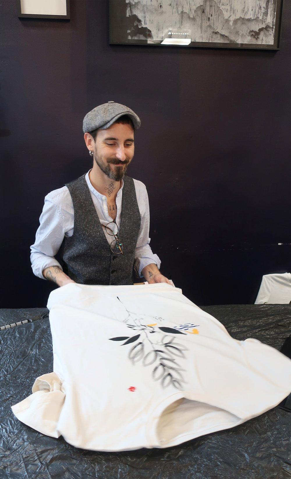 Adria Deyza customising tshirts with colour.jpeg