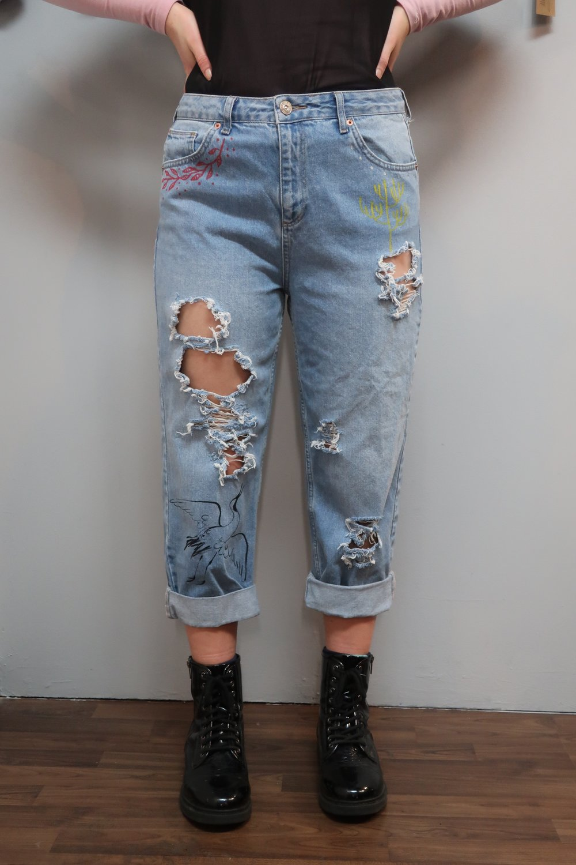 Collaborative Denim Jeans project by Alba Rey, Be tattoo .jpeg