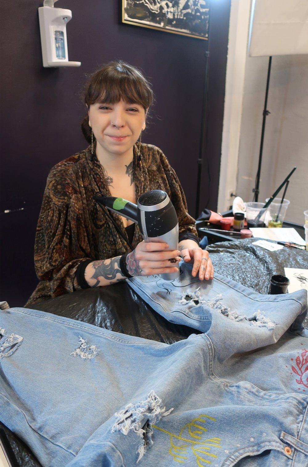 Denim Jeans painted by Alba Rey.jpeg