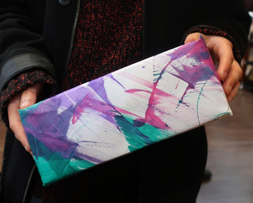 Handmade wrapping paper by artist Heloise.jpeg