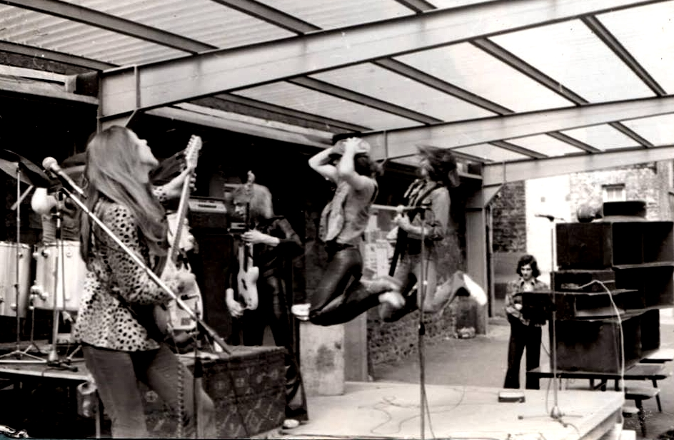 SCORPIONS daytime show at College St Laurent, Liège, Belgium - just before recording the second album,  In Trance , 14. May 1975