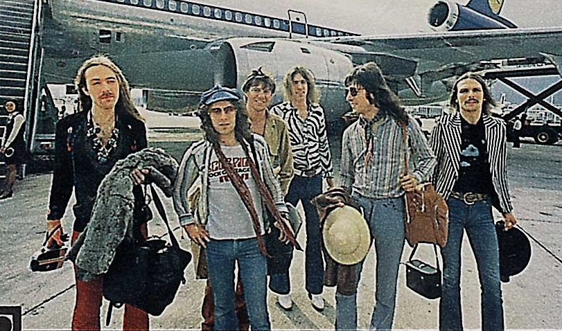 SCORPIONS arrival in Japan, Haneda Airport, April 1978