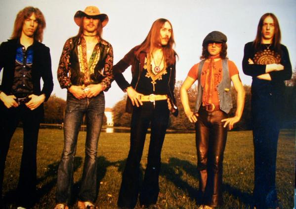 Scorpions in 1974 - Francis Buchholz, Rudolf Schenker, Uli, Klaus Meine, Doobie Fechter