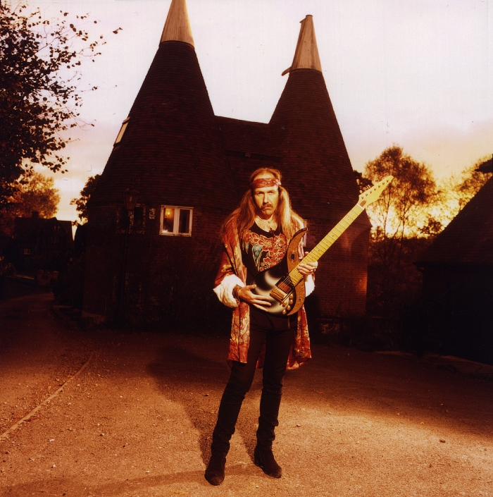 Uli in front of his  Sky Studios - Earls Farm , Mark Cross, Sussex  at around the time of the  Prologue  in autumn 1985 (photo by William Hames)