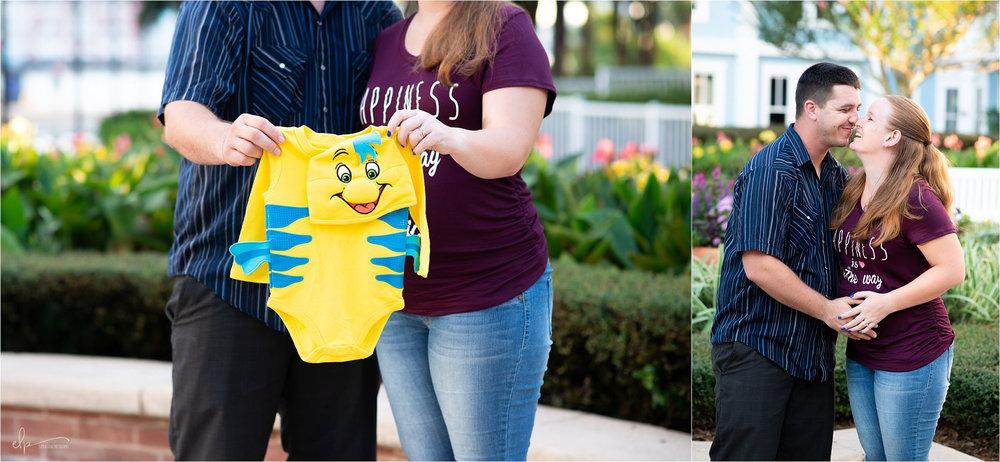 Maternity Session at Disney's Beach Club Resort.