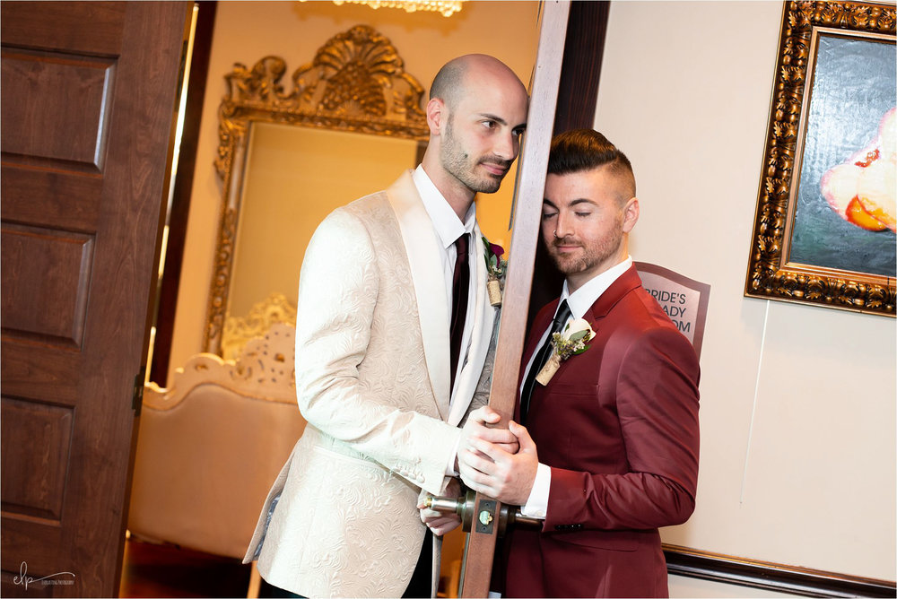 Grooms do a first touch.