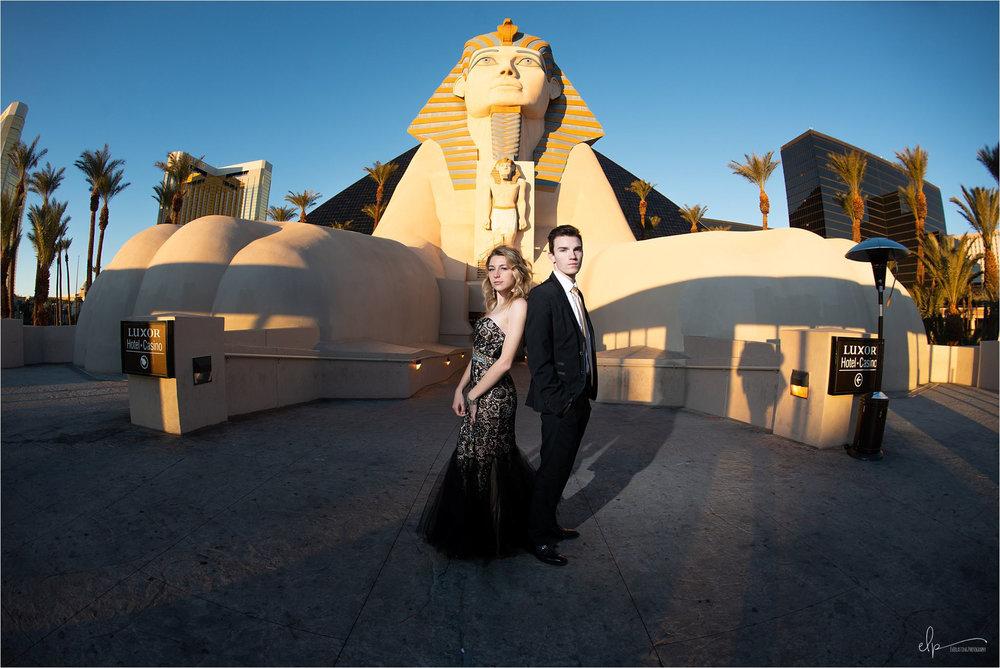 Engagement shoot at Las Vegas Luxor Hotel & Casino.