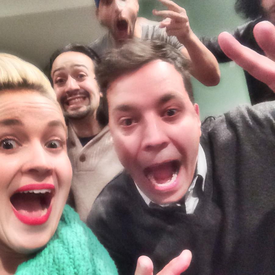 Jimmy Fallon and Lin photobomb my selfie