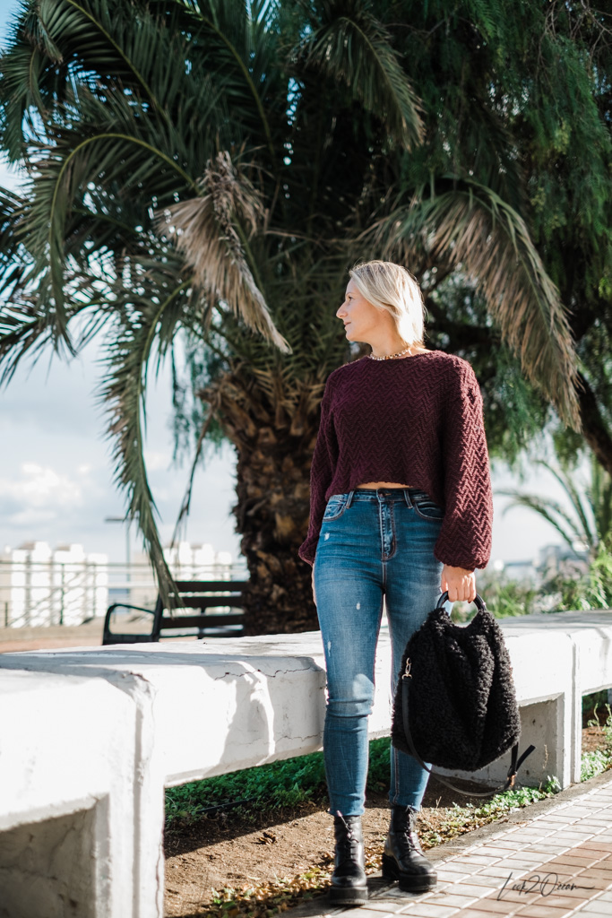 How to style cropped sweater - Winter Essential 2018