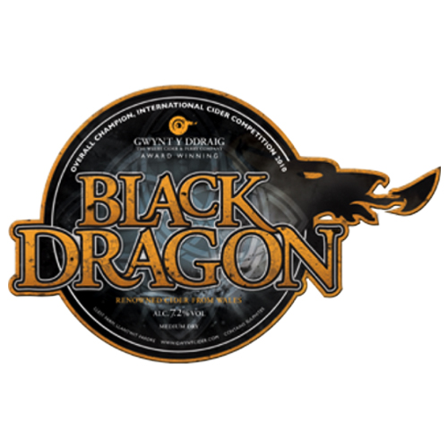 Black Dragon Cider - 7.2%The legendary Black Dragon!Medium dry cider is rich in colour, body and flavour with a fresh, fruity aroma.Click here for more info on Gwynt Y Ddraig