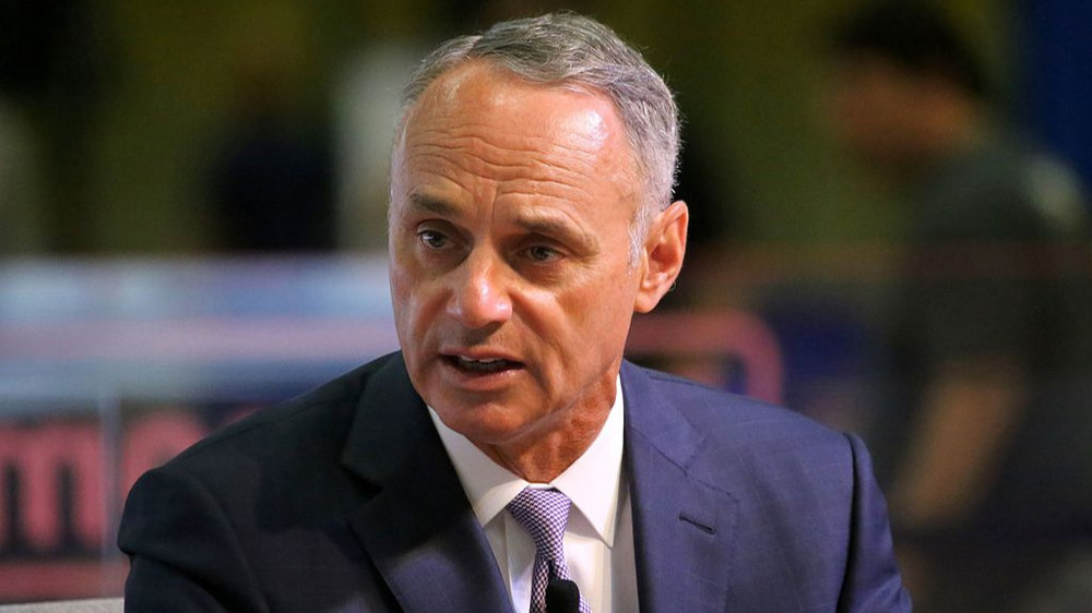 MLB Commissioner Rob Manfred during a press interview (2018)
