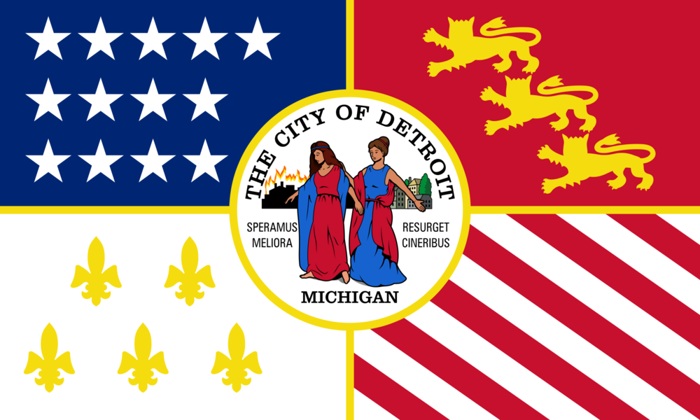 The flag of Detroit