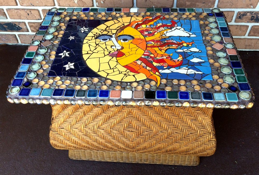 Side view- Sun and Moon Bombay Table