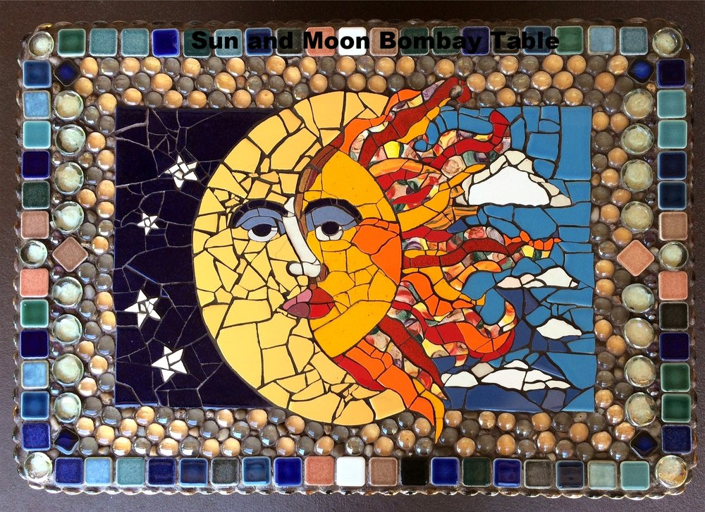 Sun and Moon Bombay Table- Available $1200.00