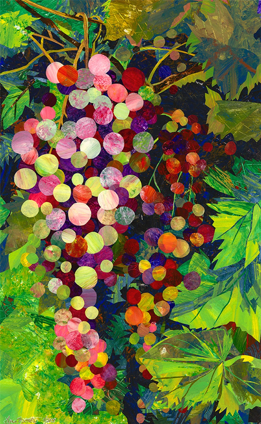 Wine Lover's Series- Tuscan Grapes- Original Art- AVAILABLE