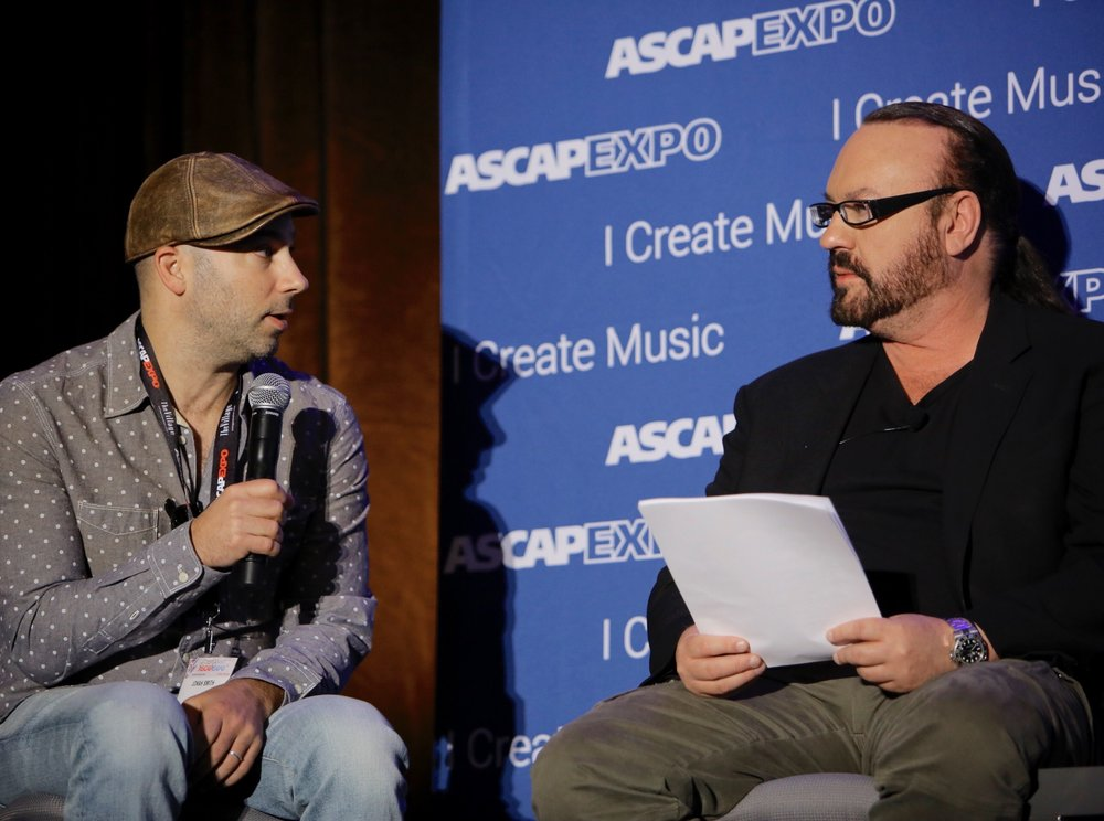 Desmond Child Interviewing Me About My Songs At ASCAP Expo