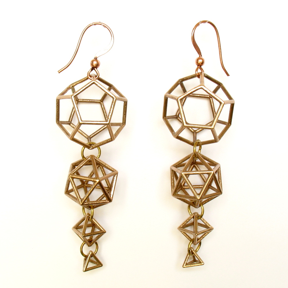 3D printing with bronze to create earrings