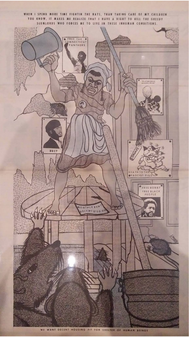 Artwork from the 'Art in the time of Black Power' exhibit by Emory Douglas
