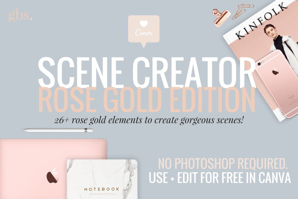 Girl Boss Stock's Rose Gold Edition Scene Creator is just too fabulous for words.