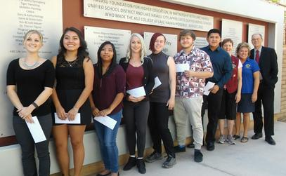 2017 - The London Bridge Lions Foundation awarded $500 scholarships from profits from the 2017 London Bridge Renaissance Faire to seven deserving students attending the local ASU-Havasu campus. The students were presented with their scholarship certificates during a ceremony held on campus on October 25th.