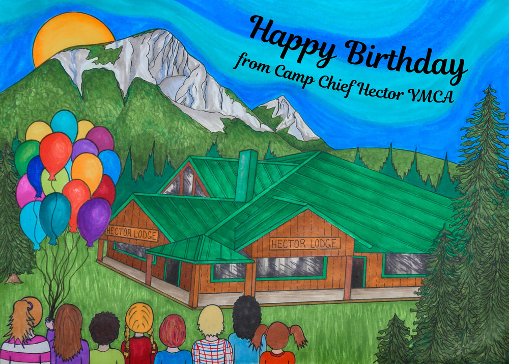 2018 birthday card for Camp Chief Hector YMCA