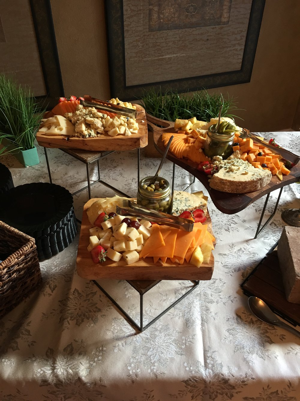 Can we just have a moment on this cheese display?  - Gil, the caterer (and my new best friend) made the most amazing food display. If I have one regret at the shower, it's that I didn't eat enough cheese.