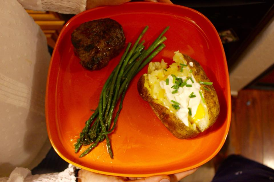 Boom. Plate It. - We paired our steaks with super easy to make baked potatoes! How do like your steak?