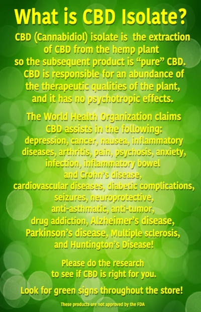 Click image to learn more about CBD Isolate