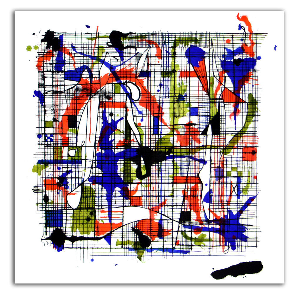 TRUST OVER DOUBT  Ink + Radiant Watercolor 29″ x 29″