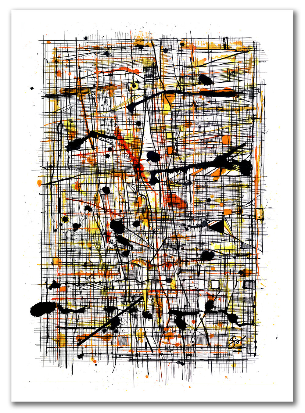 FIGHTING TO BE WILD  Ink 40″ x 29″