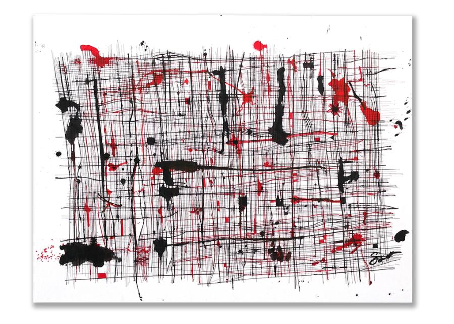 TENSE FIBERS  Ink 26″ x 38″