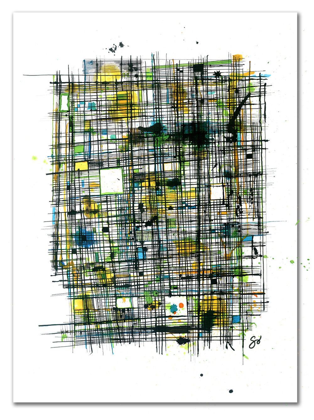 INVISIBLE CITY  Ink 40″ x 29″
