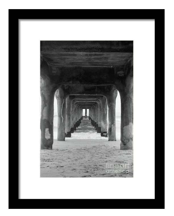 framed black and white photo