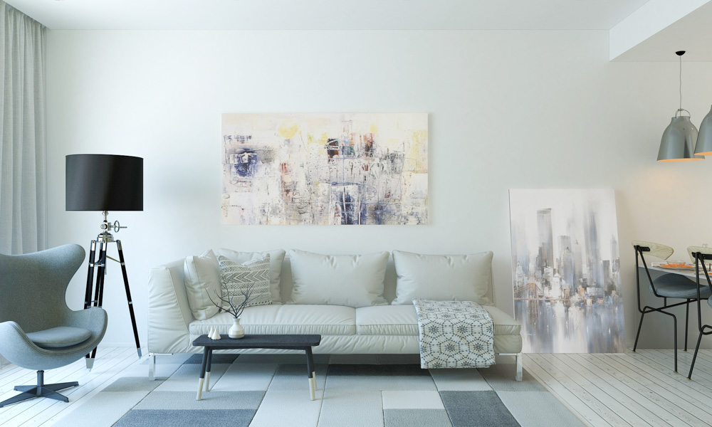 Changing the art in a room can give it a whole new look.