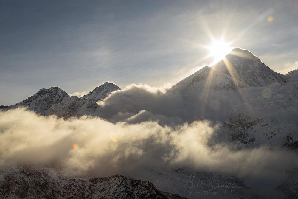 Sun Rising over Mt. Everest