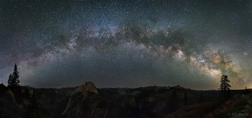 Milky Way Rising Over Half Dome, Yosemite