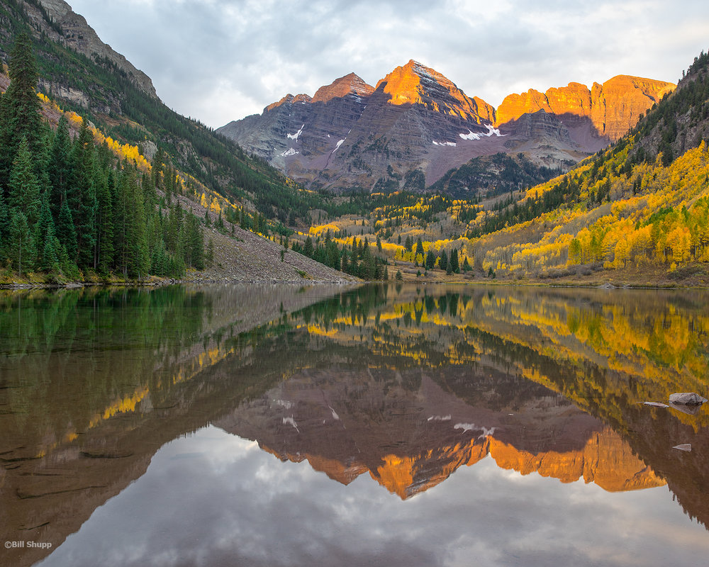 Sunrise at Maroon Bells, Colorado