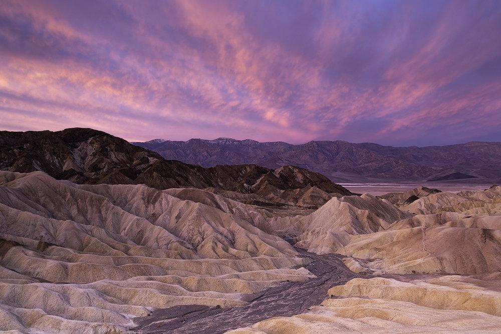 Sunrise at Zabriskie Point, Death Valley