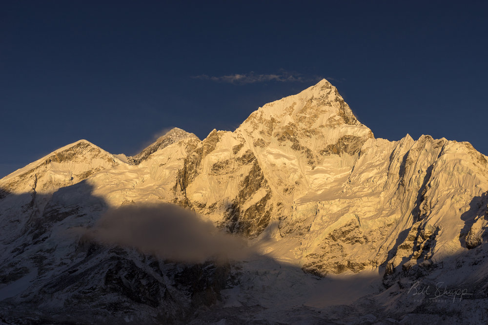 Sunset on Nuptse, Everest