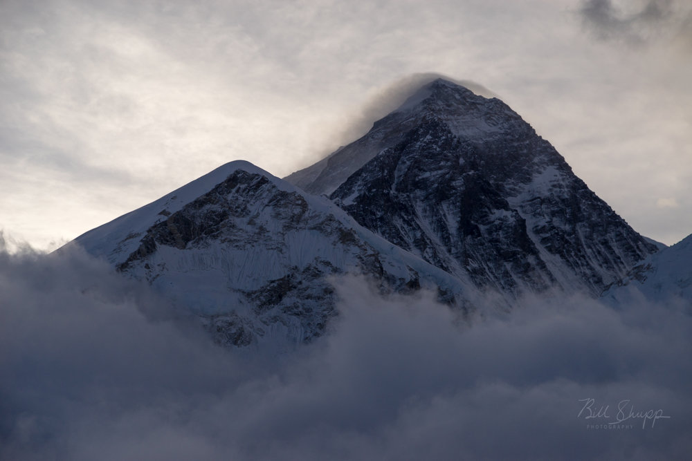 Morning view of Mt. Everest in the Clouds