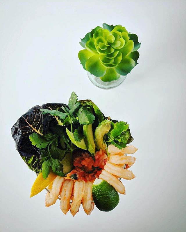 Coctél De Camerron! A beautiful special by Chef Sam. 💯🦐🥑🥬