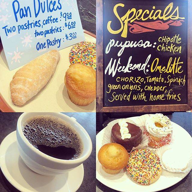 One of the best #breakfast deals in #sanfrancisco. Come join us for a #pandulce or two and coffee. #breakfastallday