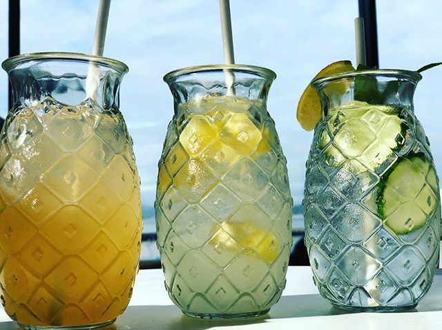 It's warming up out there! Come celebrate the best day of he week with us on our very own patio, with panoramic views of #goldengatebridge #alcatraz and #fishermanswharf while you sip an #aguasfresca