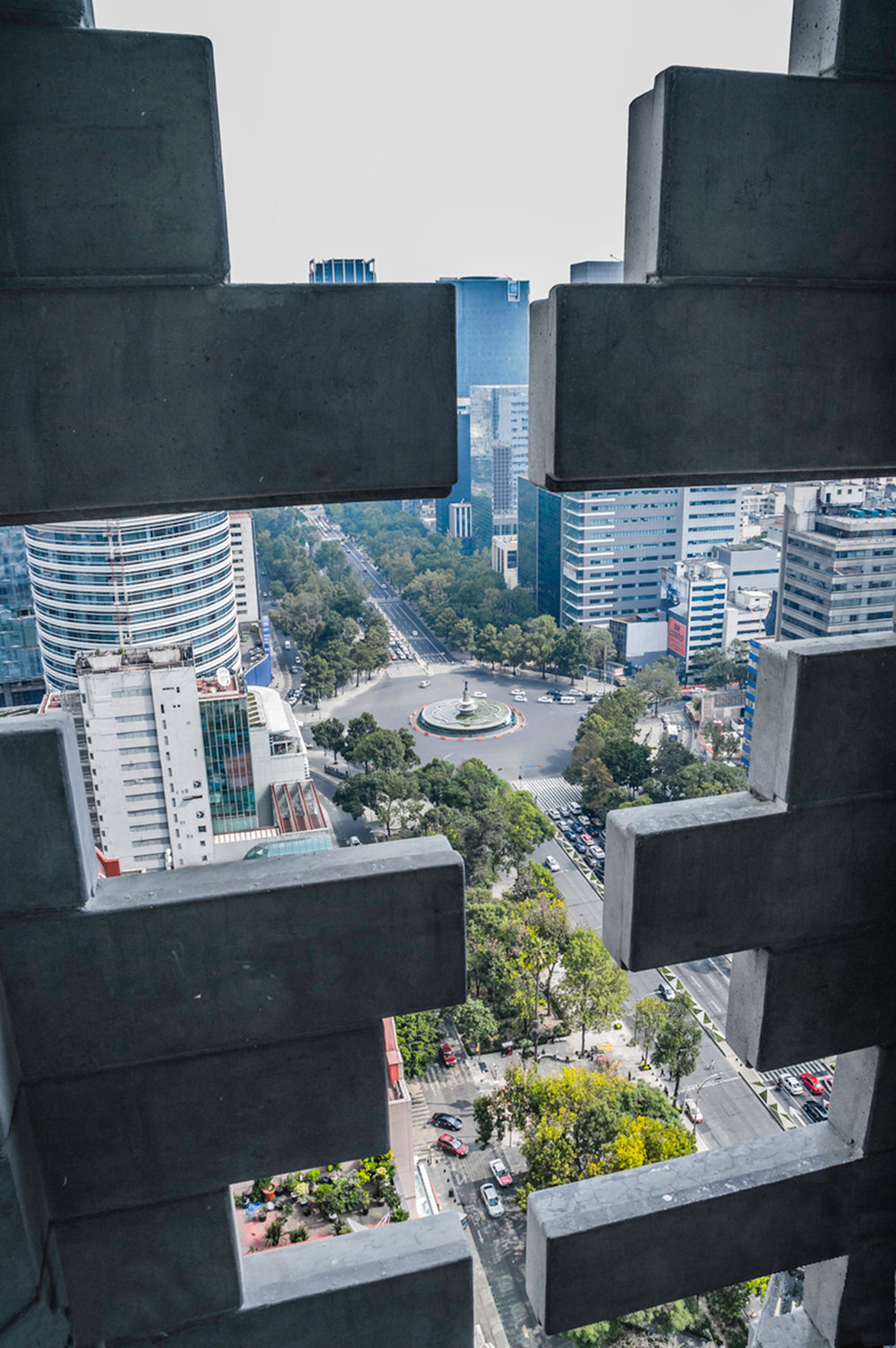 View from Torre Reforma to street below. Image: Torre Reforma