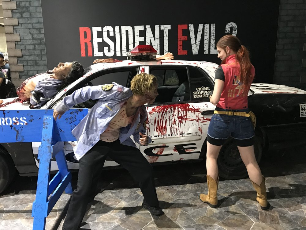 Jenny at her geekiest (Claire Redfield cosplay at Comic Con 2018)
