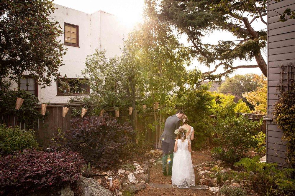 Small Berkeley Wedding in Backyard