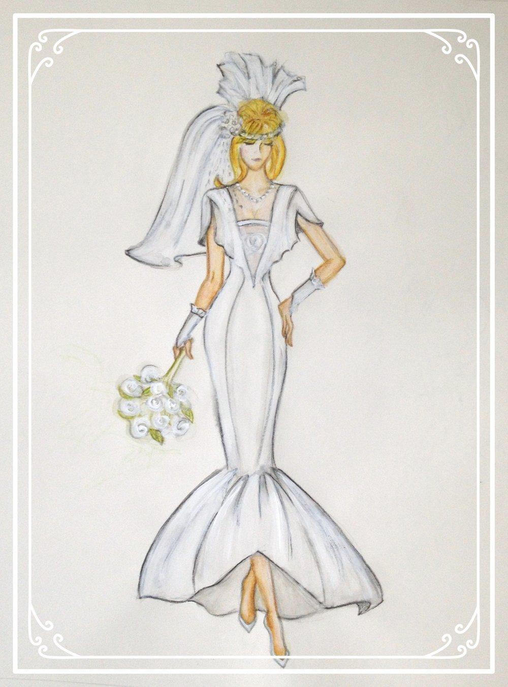 Katie's 1987 gown