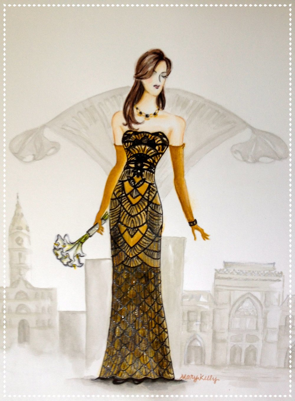 Lauren's art deco gown
